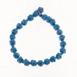 Bracciale nodi tonalità da blu marine ad azzurro