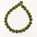 Bracciale tonalità da verde foglia a smeraldo