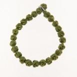 Bracciale nodi tonalità da verde foglia a smeraldo